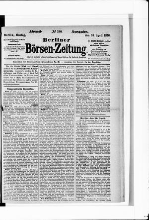 Berliner Börsen-Zeitung vom 24.04.1876