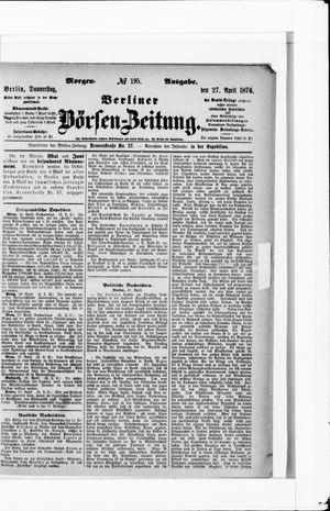 Berliner Börsen-Zeitung vom 27.04.1876