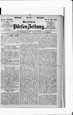 Berliner Börsen-Zeitung vom 29.04.1876