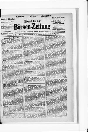 Berliner Börsen-Zeitung vom 02.05.1876