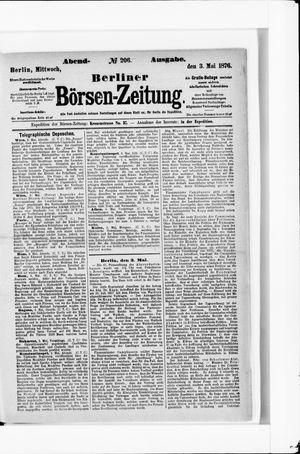 Berliner Börsen-Zeitung vom 03.05.1876