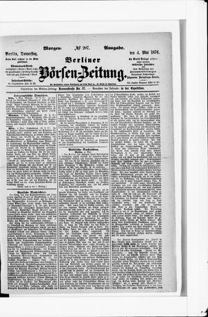 Berliner Börsen-Zeitung vom 04.05.1876