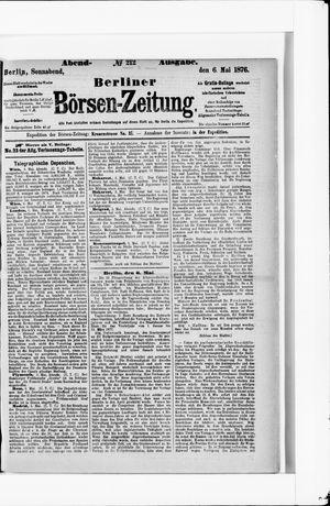 Berliner Börsen-Zeitung vom 06.05.1876