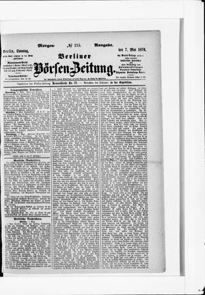 Berliner Börsen-Zeitung vom 07.05.1876