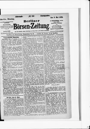Berliner Börsen-Zeitung vom 09.05.1876