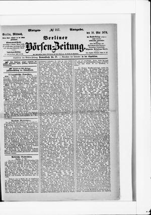 Berliner Börsen-Zeitung vom 10.05.1876