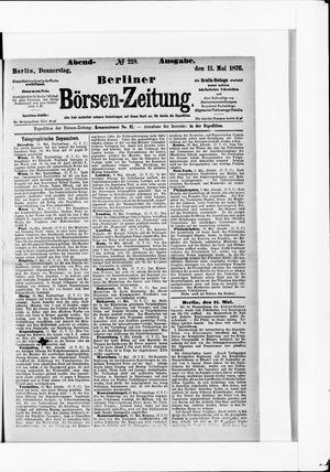Berliner Börsen-Zeitung vom 11.05.1876