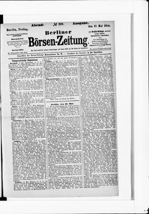 Berliner Börsen-Zeitung vom 12.05.1876