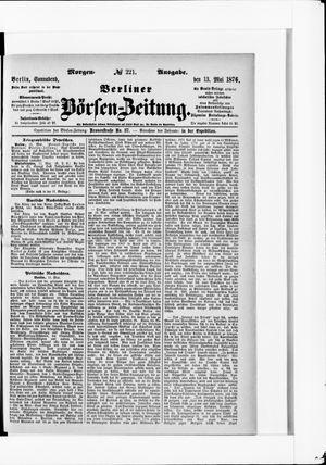 Berliner Börsen-Zeitung vom 13.05.1876