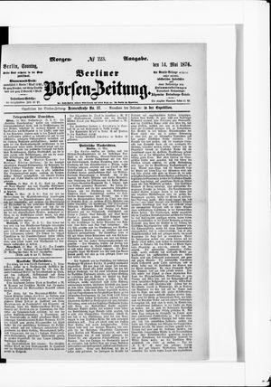 Berliner Börsen-Zeitung vom 14.05.1876