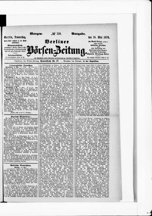 Berliner Börsen-Zeitung vom 18.05.1876