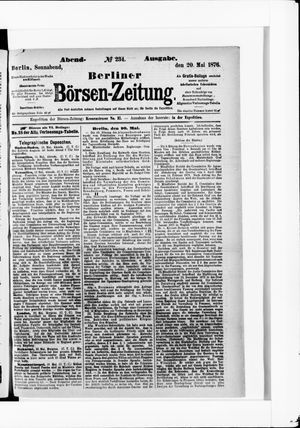 Berliner Börsen-Zeitung vom 20.05.1876