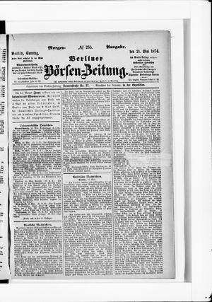 Berliner Börsen-Zeitung vom 21.05.1876