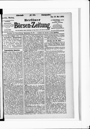 Berliner Börsen-Zeitung vom 22.05.1876
