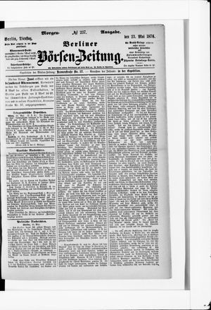 Berliner Börsen-Zeitung vom 23.05.1876