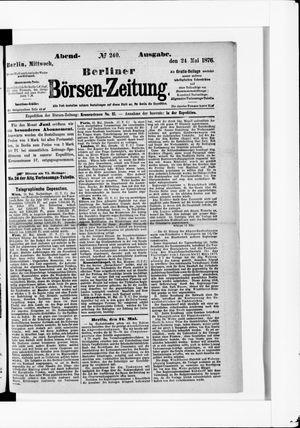 Berliner Börsen-Zeitung vom 24.05.1876