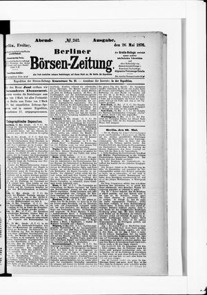 Berliner Börsen-Zeitung vom 26.05.1876