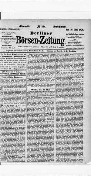 Berliner Börsen-Zeitung vom 27.05.1876