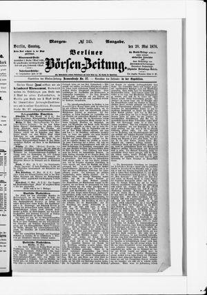 Berliner Börsen-Zeitung vom 28.05.1876