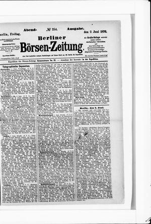 Berliner Börsen-Zeitung vom 02.06.1876