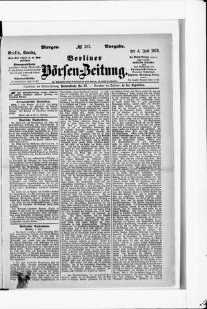 Berliner Börsen-Zeitung vom 04.06.1876