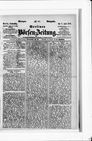 Berliner Börsen-Zeitung vom 08.06.1876