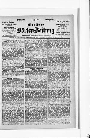 Berliner Börsen-Zeitung vom 09.06.1876