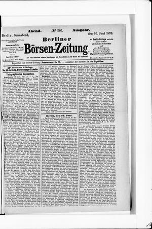 Berliner Börsen-Zeitung vom 10.06.1876