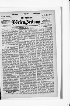 Berliner Börsen-Zeitung vom 11.06.1876