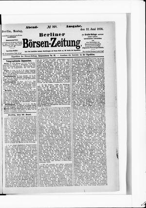 Berliner Börsen-Zeitung vom 12.06.1876