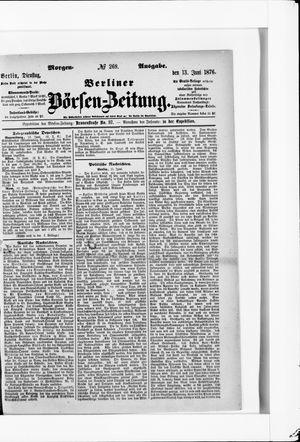 Berliner Börsen-Zeitung vom 13.06.1876