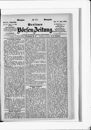 Berliner Börsen-Zeitung vom 15.06.1876