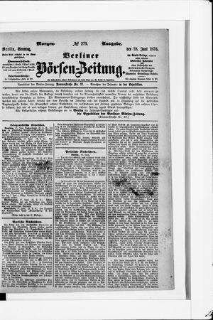 Berliner Börsen-Zeitung vom 18.06.1876