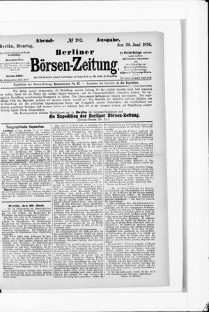 Berliner Börsen-Zeitung vom 20.06.1876