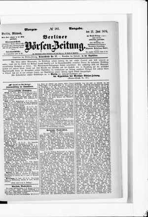 Berliner Börsen-Zeitung vom 21.06.1876