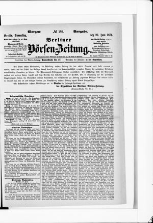 Berliner Börsen-Zeitung vom 22.06.1876