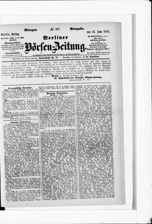 Berliner Börsen-Zeitung vom 23.06.1876