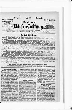 Berliner Börsen-Zeitung vom 29.06.1876