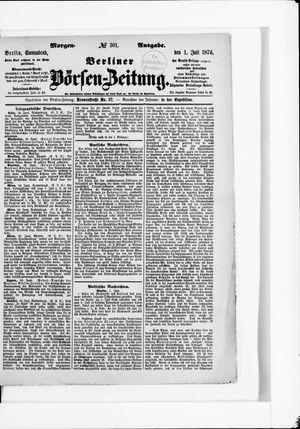 Berliner Börsen-Zeitung vom 01.07.1876