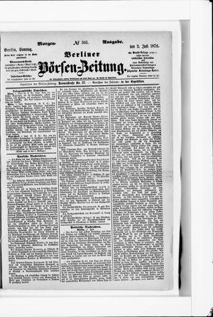 Berliner Börsen-Zeitung vom 02.07.1876