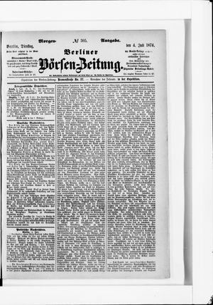 Berliner Börsen-Zeitung vom 04.07.1876