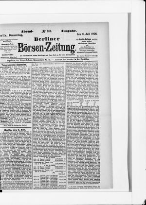 Berliner Börsen-Zeitung vom 06.07.1876