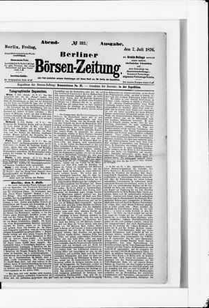 Berliner Börsen-Zeitung vom 07.07.1876