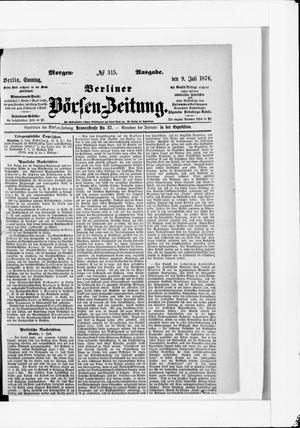 Berliner Börsen-Zeitung vom 09.07.1876