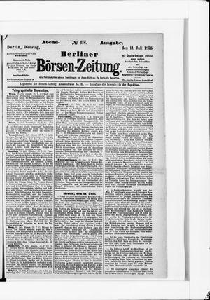 Berliner Börsen-Zeitung vom 11.07.1876