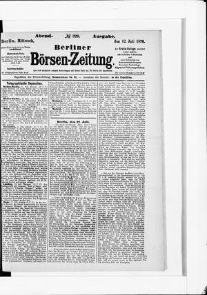 Berliner Börsen-Zeitung vom 12.07.1876