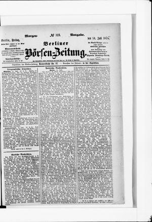 Berliner Börsen-Zeitung vom 14.07.1876