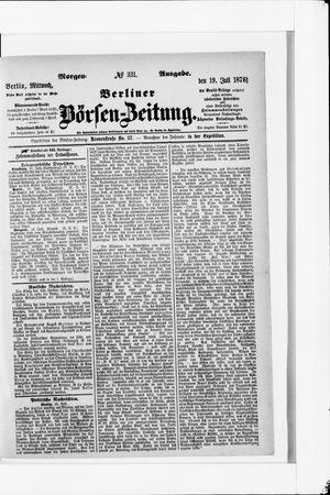 Berliner Börsen-Zeitung vom 19.07.1876