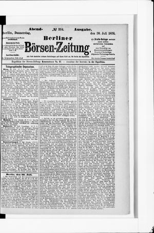 Berliner Börsen-Zeitung vom 20.07.1876