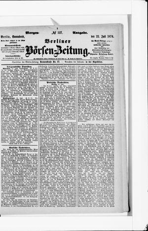 Berliner Börsen-Zeitung vom 22.07.1876
